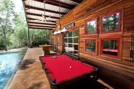 rustic pool table dining room traditional with dining room cabinet