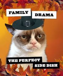 Thanksgiving Cat Meme - grumpy cat funny thanksgiving quote about family grumpy cat