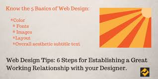 web design tips 6 steps for establishing a great working