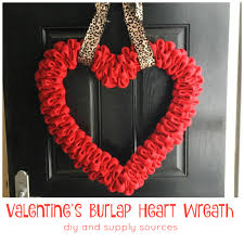 pinterest project burlap valentine u0027s wreath diy from the family