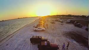 jeep wrangler beach sunset tampa jeep krewe gandy beach drone shot youtube