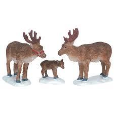lemax reindeer figurines set of 3 62242 bosworths shop