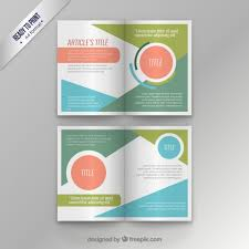 colorful modern magazine template vector free download