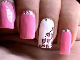 heart leopard nail art tutorial easy nail designs for beginners