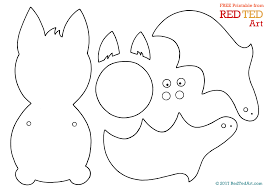 bat paper puppet red ted art u0027s blog