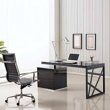 modern glass work desk desk glass work desk consideration computer desk furniture