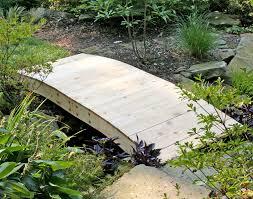 Backyard Bridge Red Cedar Crescent Moon Plank Bridge