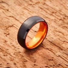 titanium colored rings images Embr black tungsten ring resilient orange jpg