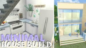 the sims 4 let u0027s build simple minimalistic small home modern