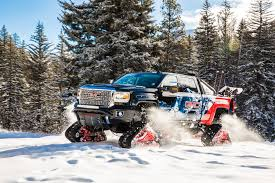 jeep snow tracks make tracks in the snow with the gmc sierra all mountain concept