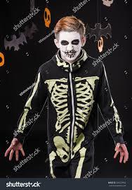 halloween portrait background portrait man halloween costume skeleton studio stock photo