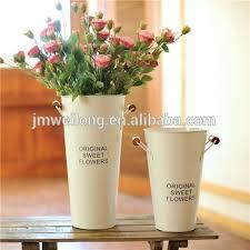 Tin Vases Garden Decoration Indoor Tall Galvanized Bucket Vase Metal Flower