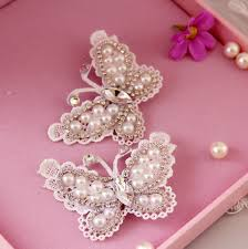 handmade hair accessories 2pcs set pearl butterfly flower handmade hair stick hair