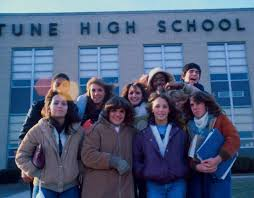 high school in united states galleries galleries usa in the 80s students outside neptune