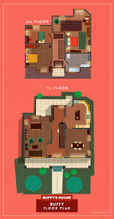 extremely detailed floor plans of iconic tv show homes the