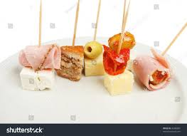 selection party nibbles on plate stock photo 42382801 shutterstock