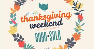 thanksgiving weekend bogo sale phm