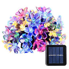 Amazon Com Outdoor Christmas Decorations by Qedertek Solar Christmas String Lights 21ft 50 Led Fairy Blossom