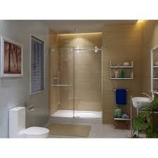 glass bath shower doors discobath art of bath shower door k6079 clear 3 8