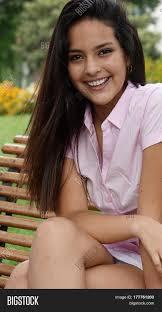 hispanic hair pics pretty teen hispanic girl long hair image photo bigstock