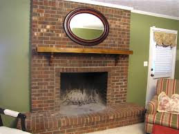 red brick fireplace makeover modern rooms colorful design