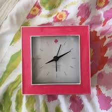 kate spade desk clock kate spade accessories small pink and silver kate spade desk clock