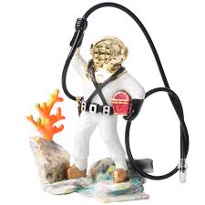 aquarium fish tank sea treasure diver air ornament