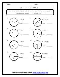 a bunch of worksheets for area circumference wall of remediation