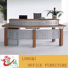 Metal Reception Desk Modern Wood With Metal Office Front Table Reception Desk Buy