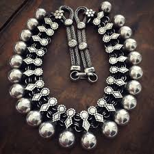 statement necklace sterling silver images Gypsy silver heavy vintage rajasthani sterling silver statement jpg