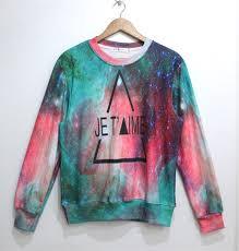 galaxy sweater triangle galaxy sweater jumper cosmic sweatshirt black t shirt