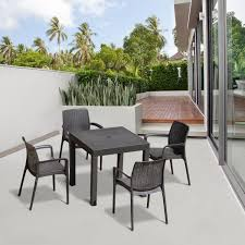 Cheap Patio Dining Set - outsunny 5 piece all weather rattan style wicker outdoor patio