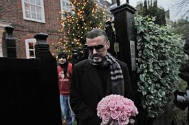 george michael house george michael leaves his house after recovering from pneumonia