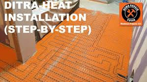 ditra heat heated flooring systems home repair tutor