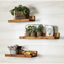 Floating Wooden Shelves by Floating U0026 Hanging Shelves You U0027ll Love Wayfair