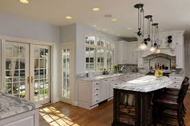 enchanting remodeling kitchen and bath with classic style kitchen wonderful remodeling kitchen and bath with kitchen island with marble countertop also bookshelf interior design