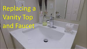diy vanity sink and faucet replacement youtube