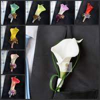 Groom S Boutonniere Best Real Touch Calla Lilies Boutonniere To Buy Buy New Real