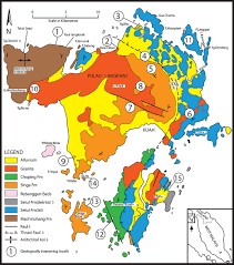 Map Of Malaysia Geological Field Guide To Langkawi Publications Of The
