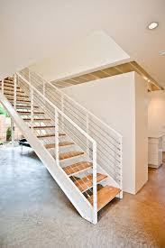 dazzling open tread staircase in staircase transitional with next