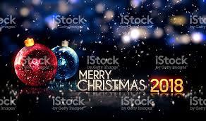 merry christmas 2018 night bokeh beautiful 3d background stock