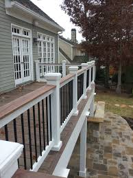 Patio Railing Designs Two Tone Or Three Tone Deck Rails Can Tie It All Together When