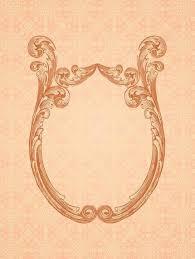 ornamental mirror frame retro background vector
