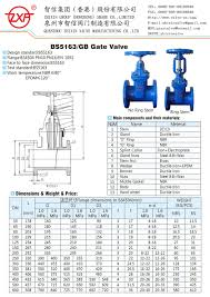 Light Type Ductile Iron Bs5163 Resilient Seated Gate Valve Light Type Dn50