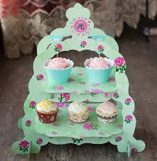 cupcake and cake stand free shipping layer green flower decoration cupcake cake