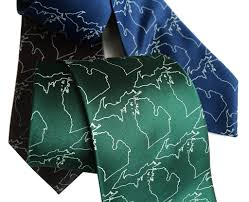 State Of Michigan Map State Of Michigan Necktie Michigan Map Outline Tie