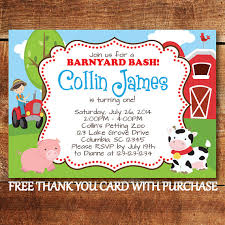 farm animal birthday invitation farm first birthday party invite