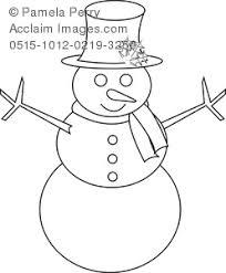 clip art image snowman coloring