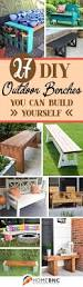 Backyard Bench Ideas by 27 Best Diy Outdoor Bench Ideas And Designs For 2017