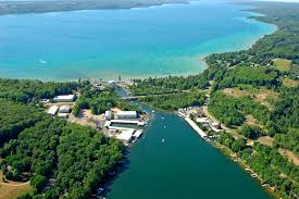 Torch Lake Michigan Map by Clam Lake Harbor In Bellaire Mi United States Harbor Reviews